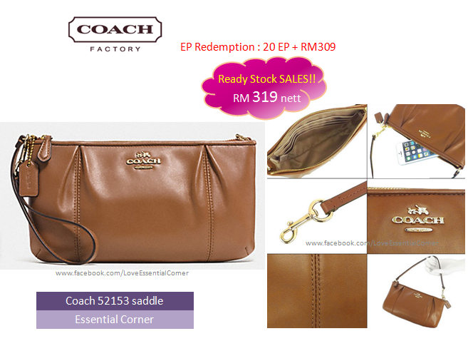 444b762a2d84 official ready stock in malaysia sales rm 319. coach 52153 colette leather  zip top wristlet